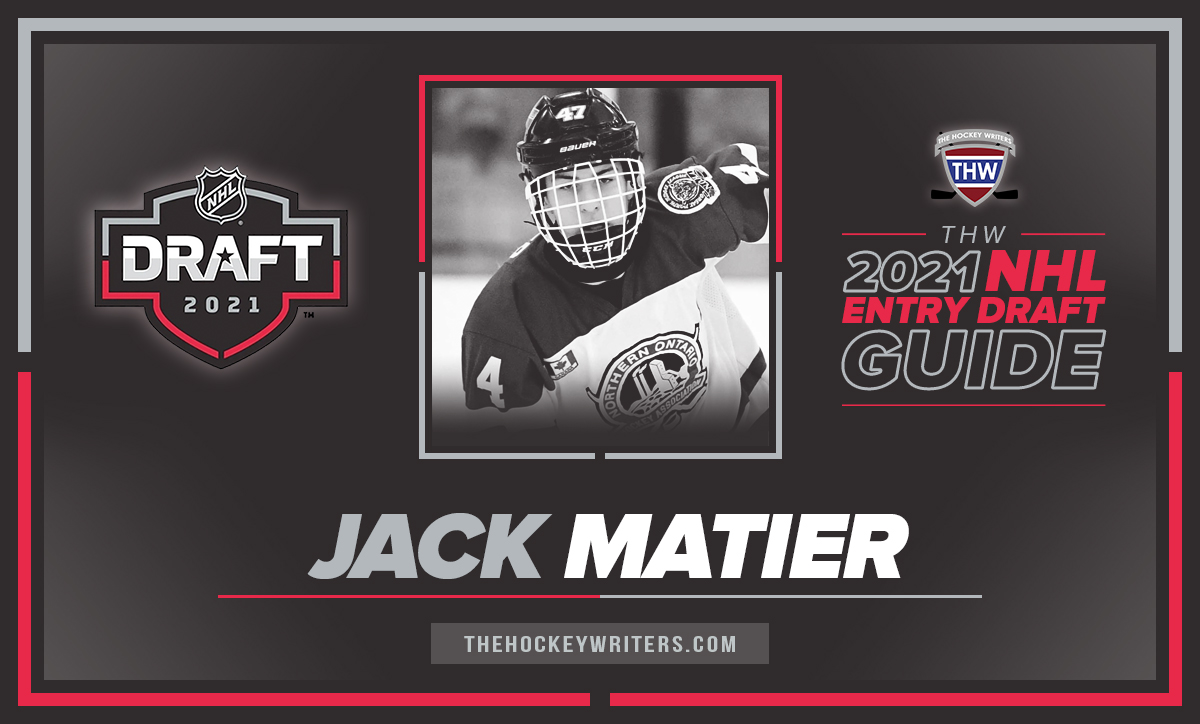 Jack Matier The Hockey Writers 2021 NHL Entry Draft Guide