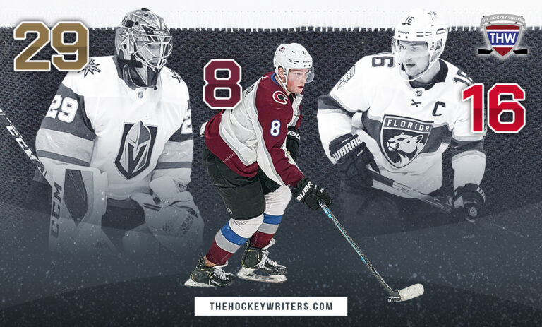 Best Player for Each Jersey Number - 2020-21 NHL Season Marc-Andre Fluery, Cale Makar and Alex Barkov