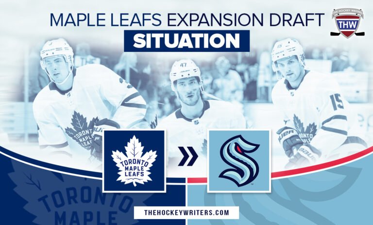 Toronto Maple Leafs Expansion Draft Situation Seattle Kraken Kerfoot, Holl and Engvall