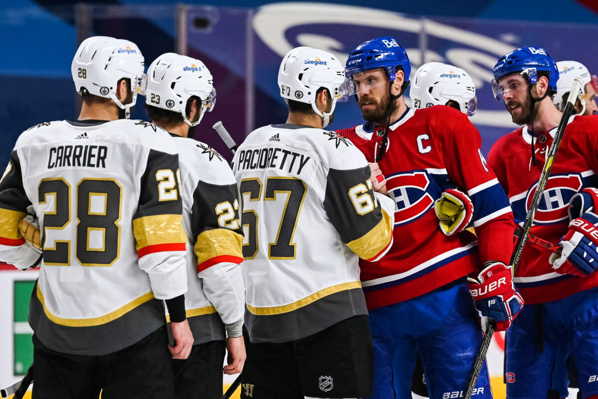 Max Pacioretty Vegas Golden Knights Shea Weber Montreal Canadiens