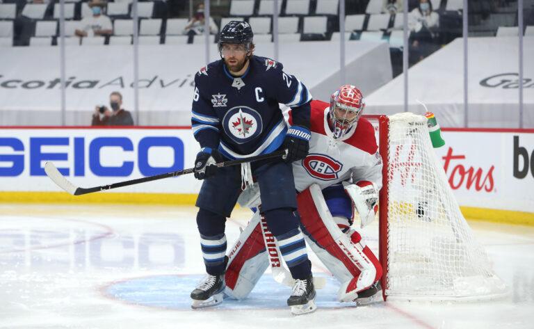 Blake Wheeler Winnipeg Jets Carey Price Montreal Canadiens