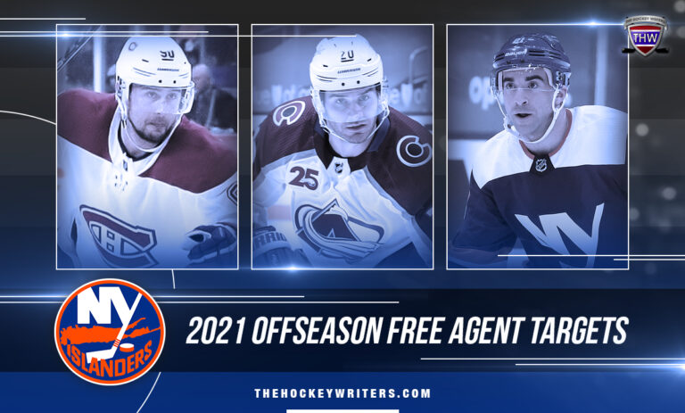 Kyle Palmieri Brandon Saad, and Tomas Tatar New York Islanders' 2021 Offseason Free Agent Targets