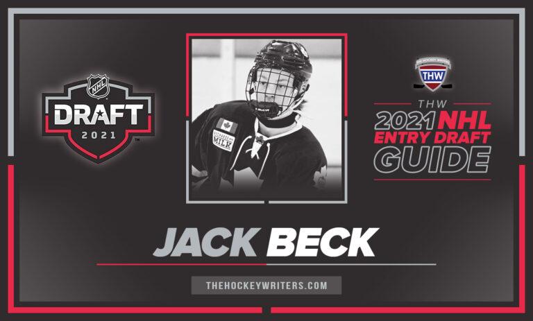 Entry Draft profile 2021 Jack Beck
