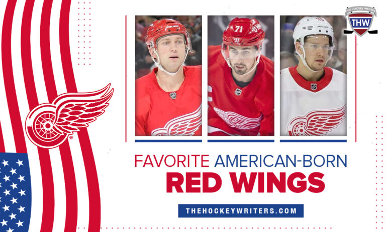 Favorite American-born Detroit Red Wings Dylan Larkin Danny DeKeyser and Brian Rafalski