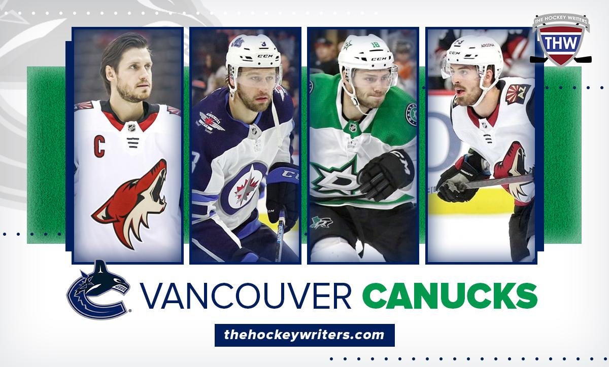 Vancouver Canucks Oliver Ekman-Larsson, Connor Garland, Poolman, Jason Dickinson