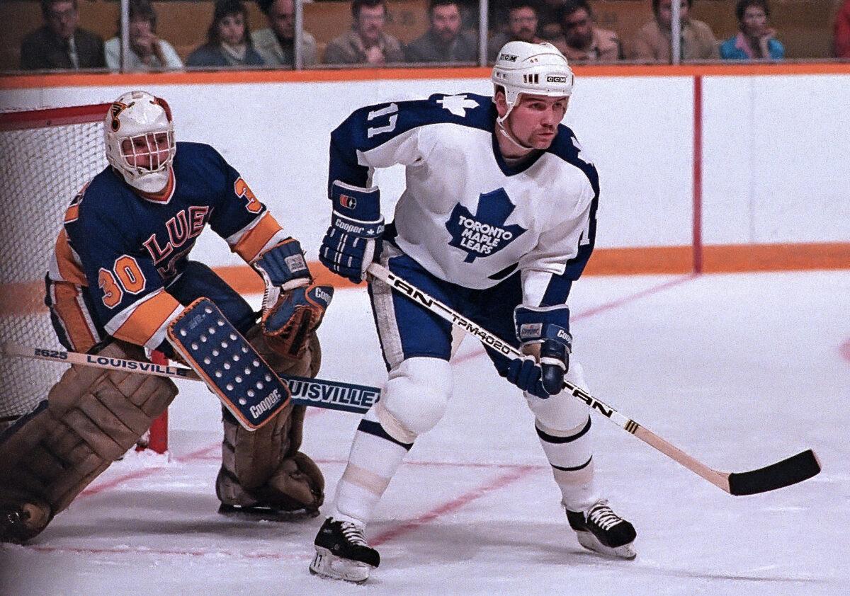 Wendel Clark Toronto Maple Leafs Rick Wamsley St. Louis Blues