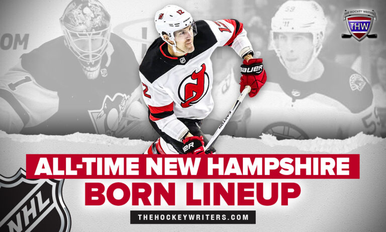 All-Time New Hampshire Born Lineup Casey DeSmith, Tim Schaller, with Ben Lovejoy