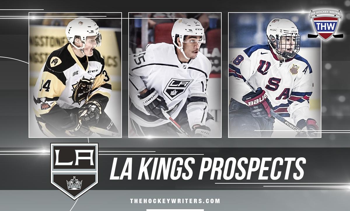 LA Kings Prospects Quinton Byfield, Alex Turcotte, Arthur Kaliyev