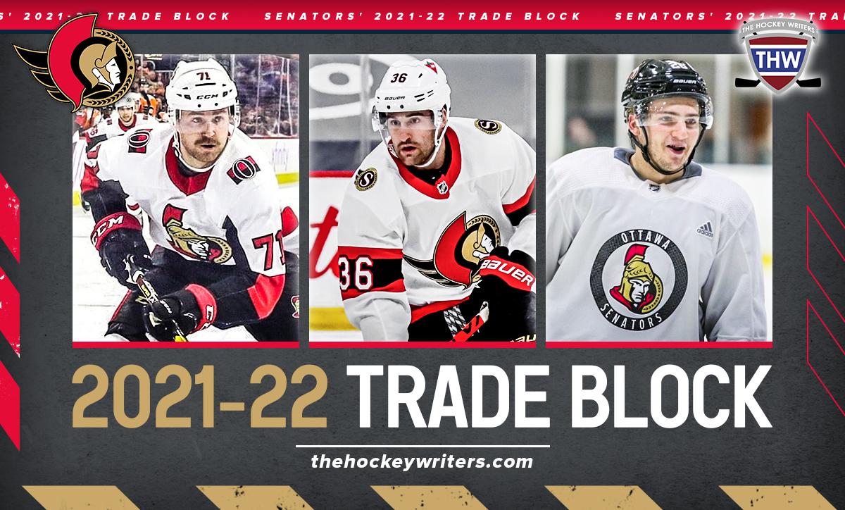 Ottawa Senators' 2021-22 Trade Block Chris Tierney, Erik Brannstrom & Colin White