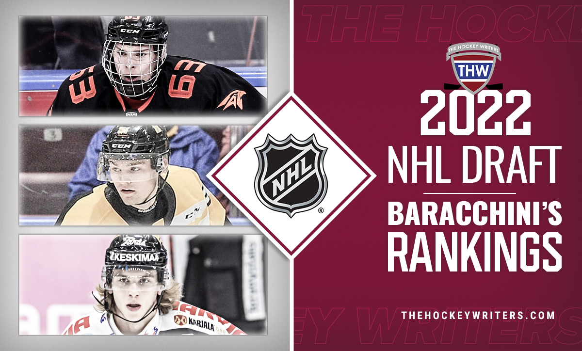 Baracchini's 2022 Draft rankings Shane Wright Brad Lambert and Ivan Miroshnichenko