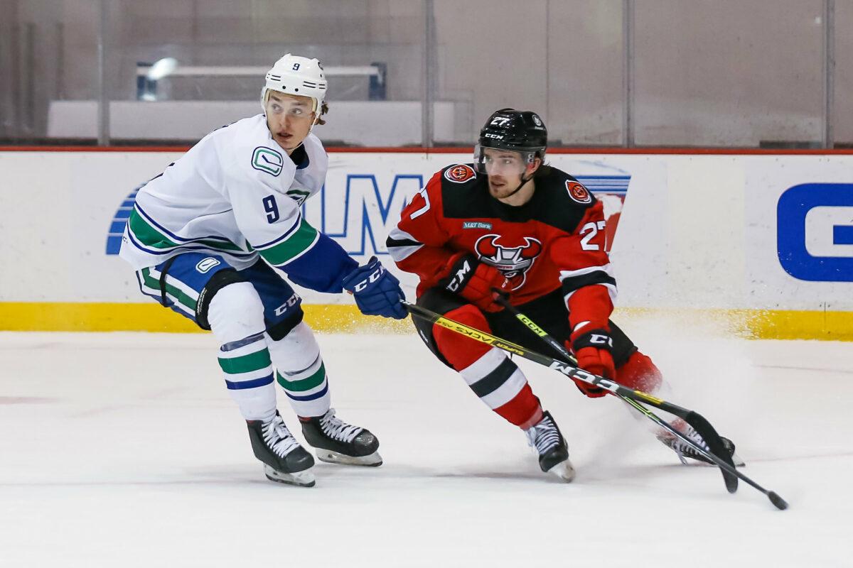 Lukas Jasek Utica Comets Marian Studenic Binghamton Devils