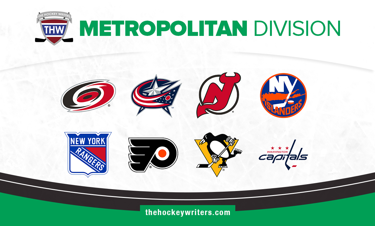 NHL Metropolitan Division Carolina Hurricanes Columbus Blue Jackets New Jersey Devils New York Islanders New York Rangers Philadelphia Flyers Pittsburgh Penguins Washington Capitals