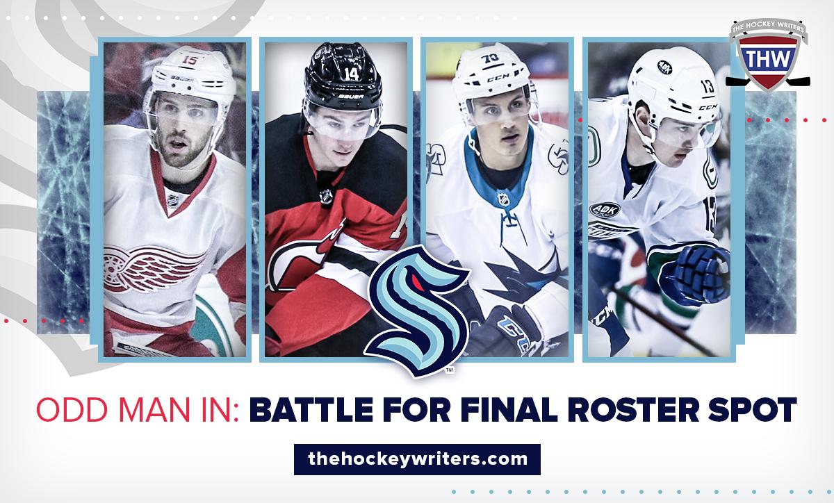 Seattle Kraken Riley Sheahan, Nathan Bastian, Alexander True and Kole Lind Odd Man In: Battle for Final Roster Spot