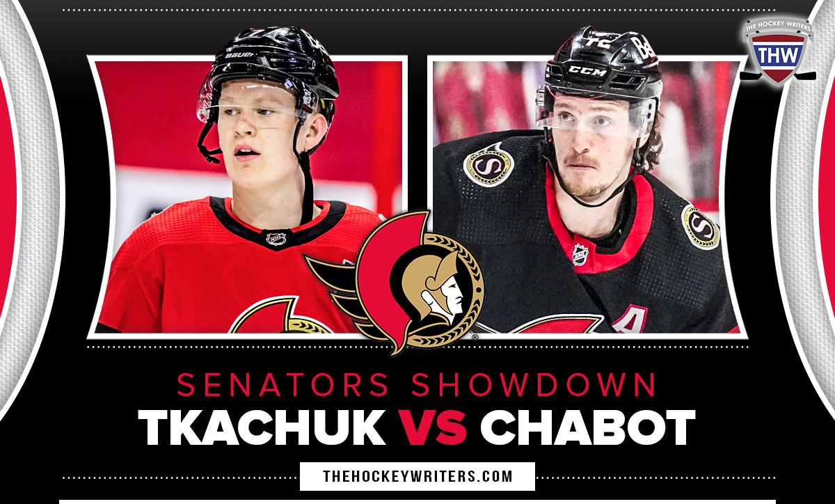 Thomas Chabot and Brady Tkachuk Ottawa Senators star battle Showdown