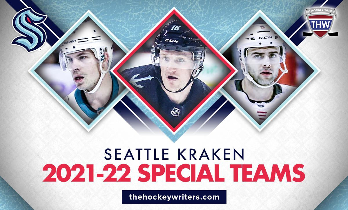 Seattle Kraken 2021-22 Special Teams Jared McCann, Joonas Donskoi and Mark Giordano